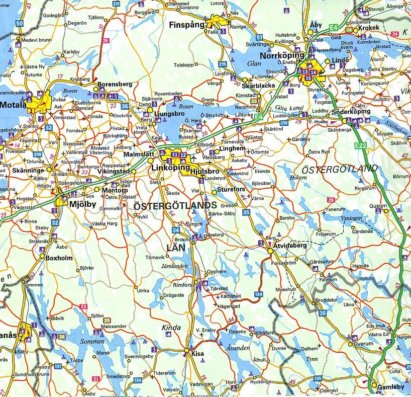linkøping kart Läsvärt och tips | Cruisarklubben linkøping kart